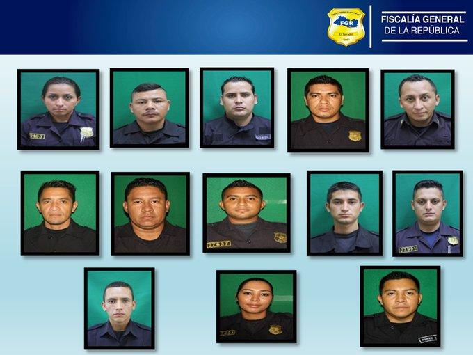 FISCALÍA  CAPTURO A 12 AGENTES Y UN EX AGENTE DE LA POLICÍA NACIONAL CIVIL (PNC)