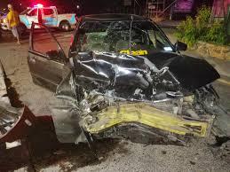 Supuesto ebrio protagoniza  fuerte  accidente en carreta de Oro.