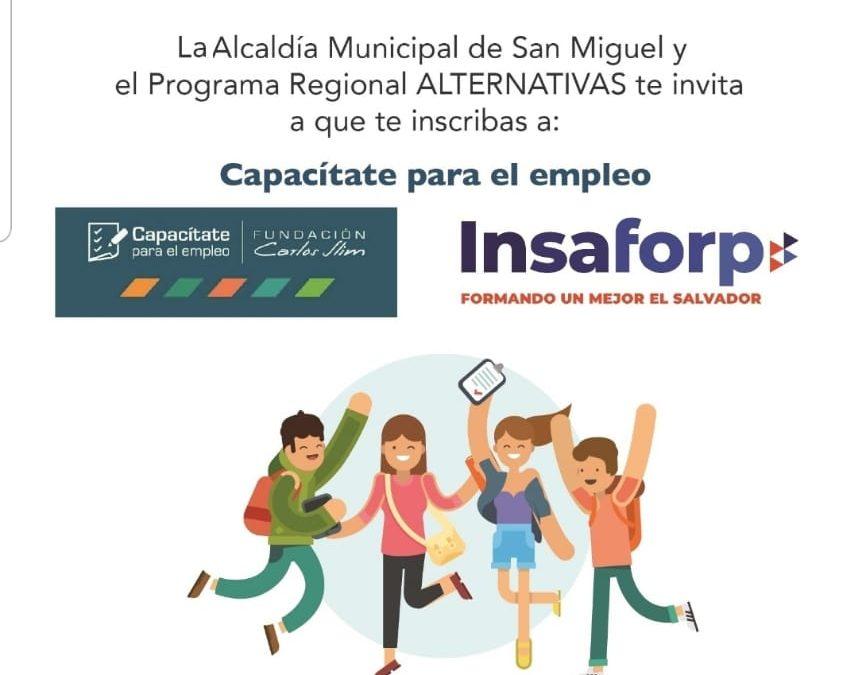 ALCALDIA DE SAN MIGUEL E INSAFORD LANZAN PROYECTO DE CAPACITACIÓN VIRTUAL A JÓVENES